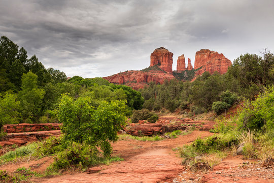 Cathedral Rock seen from Red Rock State Park, Sedona, Arizona