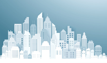 Modern City Skyline backgrounds vector illustration EPS10