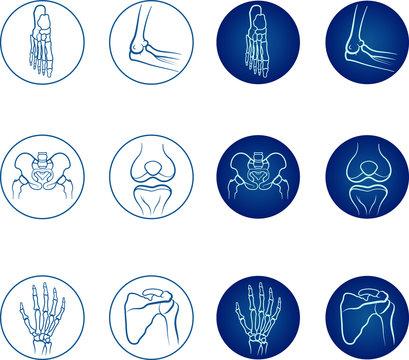 Orthopedics icon set