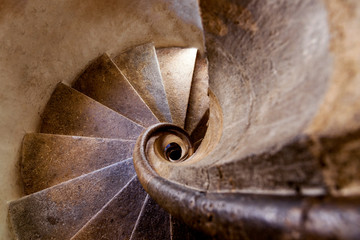 Photo sur Aluminium Spirale Double spiral stone staircase at Graz Castle, Graz, Austria