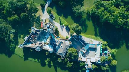 Die Franzensburg im Laxenburg von oben