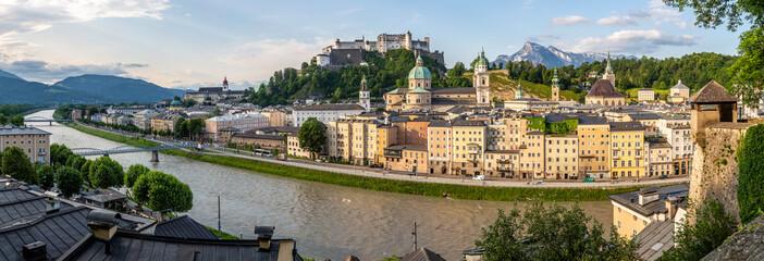 Morning Sun on Salzburg Wall mural