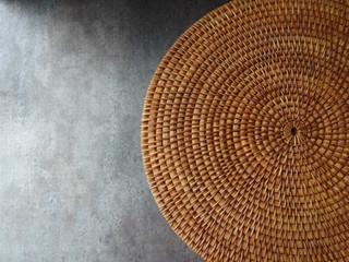Round Weave Mat Background