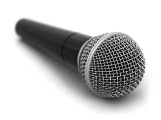Microphone. Image with clipping path