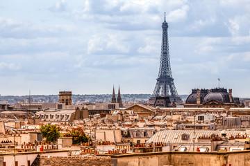 Canvas Prints Paris Classical Paris skyline view from the roof top