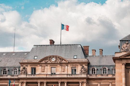 Federal authority Conseil d'état with French flag