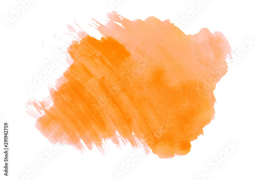 Orange Watercolor Abstract Background Colorful Strokes On