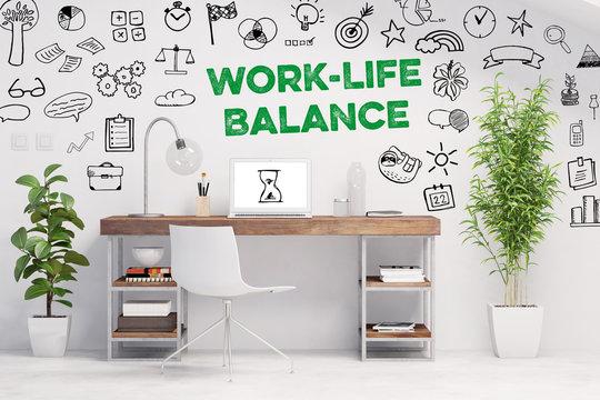 Work-Life-Balance als Business Konzept im Büro