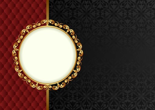 decorative background with old-fashioned patterns and elegant frame