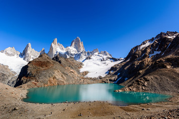 Laguna De Los Trek and and Fitz Roy Mountain,  Los Glaciares National Park, Patagonia, Argentina