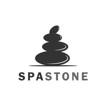 black spa stone logo, icon and template