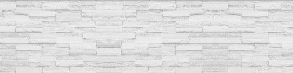 white clean Slate Marble Split Face Mosaic  pattern and background brick wall floor top view