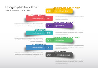 Info Chart Timeline Layout with Colorful Stickers