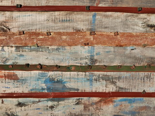 planche cabane Wall mural