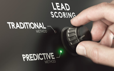 Fototapeta Choosing Predictive Lead Scoring Instead of Traditional  Methodology.