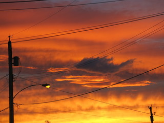 Electric sunset over Vancouver Island
