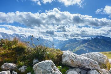 Wall Mural - Panoramablick über die Zillertaler Alpen