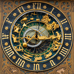 old astronomical clock-astrology