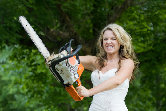 Bridezilla - Angry Bride with Chainsaw