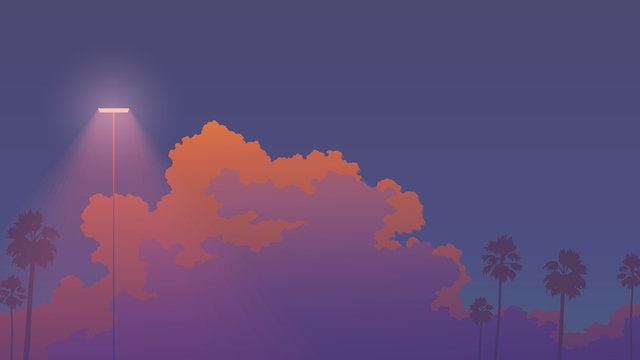 nostalgic sunset sky aesthetic background