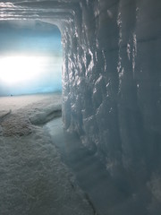 Inside the glacier