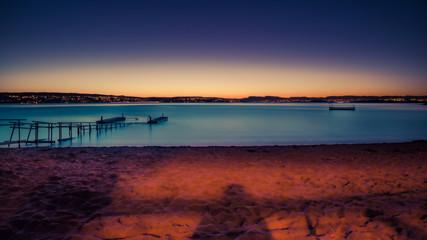 Zachód słońca nad Oslo w Norwegii