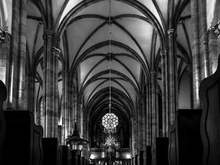 Pipe organ of Zolbermann in the Church Saint Thomas, Strasbourg Wall mural
