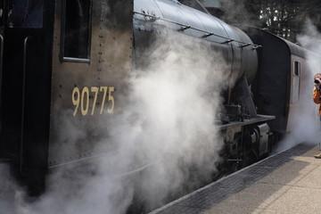 steam engine steaming up