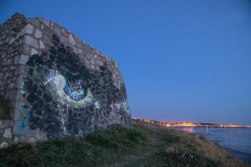 bunker at french coastline