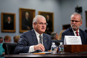 Earl Lawrence, executive director for aircraft certification of the Federal Aviation Administration, speaks during a House Appropriations subcommittee hearing on aviation certifications, on Capitol Hill in Washington