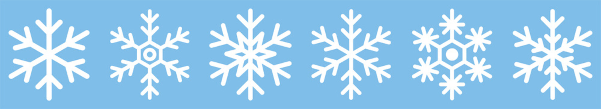 Snowflake different icons. Vector illustrator