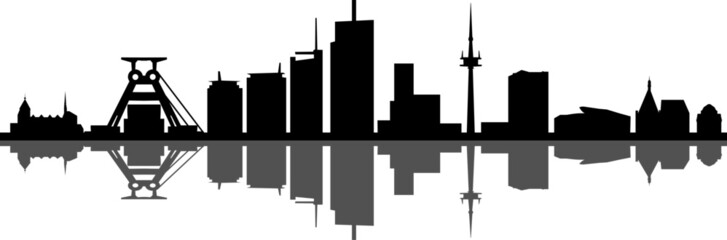 Essen Skyline City Vector Silhouette