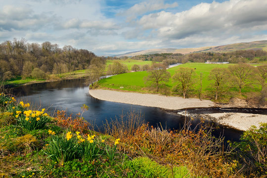 Ruskin's View in Kirkby Lonsdale, England, UK