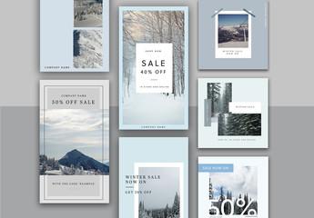 Winter Sale Social Media Layout Set
