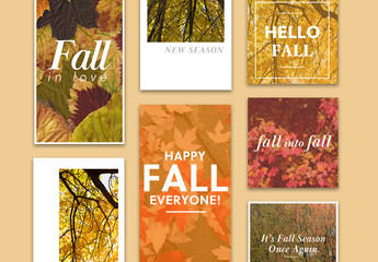 Fall Social Media Layout Set