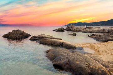 Sarti Beach at Sunset, Sithonia, Greece