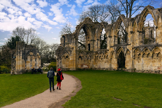 St Mary's Abbey in York, Yorkshire, England, UK