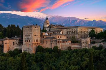 Alhambra - View from Miradore San Nicolas, Granada, Spain