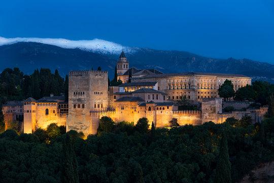 Alhambra - View from Miradorde San Nicolas, Granada, Spain