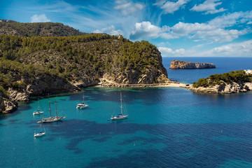 Puerto de San Miguel bay, Ibiza, Spain