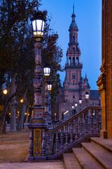 Plaza de España at dusk, Seville