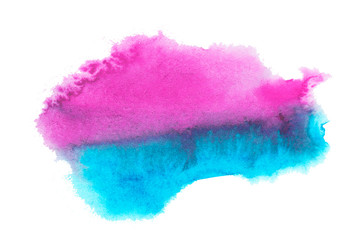Abstract watercolor stain. A blur of color in the paint. Watercolor background for your design