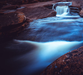 Wodospady w Kanada koło Lier w gminie Buskerud w Norwegii