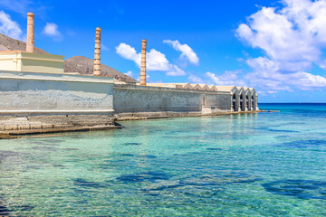 The Tonnara (old tuna factory) of Favignana in summer, Egadi Islands, Italy