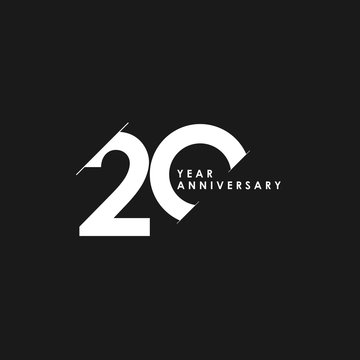20 Years Anniversary Vector Template Design Illustration