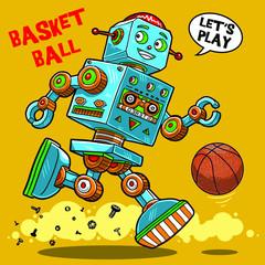 vintage robot toy illustration graphic design resource
