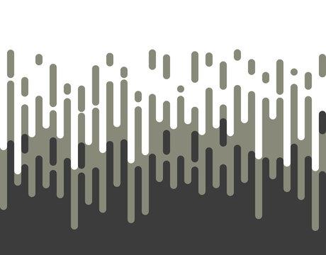 Halftone transition pattern background. Irregular rounded lines. Vector illustration.