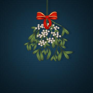 illustration of mistletoe