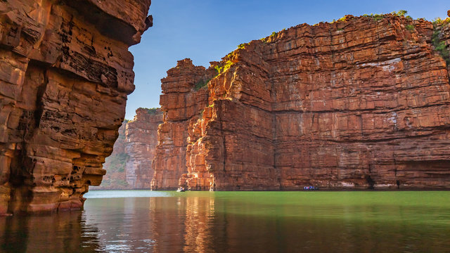 King George River - Northern Kimberley. falls off the Kimberley Plateau with a thunderous roar directly into the ocean far below..A very wild and remote place accessible only by boat or helicopter.