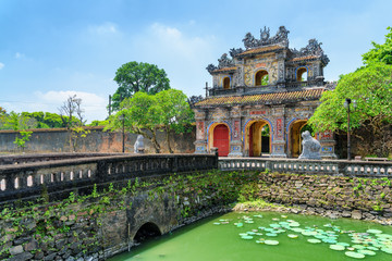 Wonderful view of the East Gate (Hien Nhon Gate), Hue Wall mural